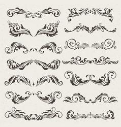 set swirl elements for design vector image