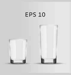 Set two glasses realistic vector