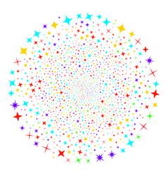 shine stars fireworks sphere vector image