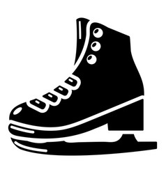 skates icon simple black style vector image