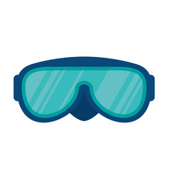 Snorkel glasses isolated icon vector