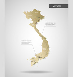 stylized vietnam map vector image