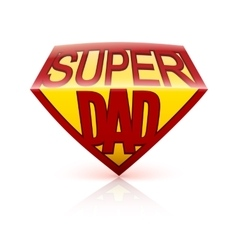 Super dad shield on white background vector image