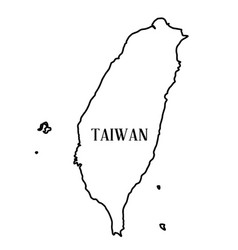 Taiwan outline map vector