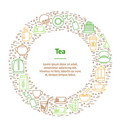 tea related banner card circle vector image