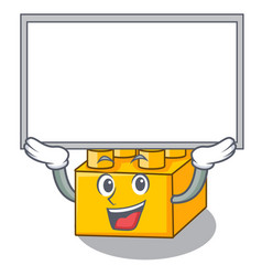 Up board plastic building blocks cartoon on toy vector