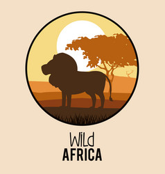wild africa animals vector image