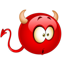 wonder devil emoticon vector image