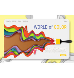 World of color landing page website vector