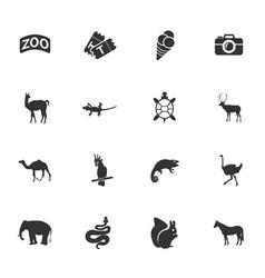Zoo icon set vector