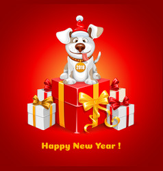 new year congratulation vector image vector image