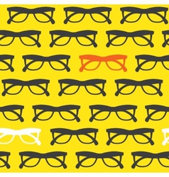 Yellow sunglasses background vector image