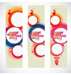 Abstract bubble banner vector image vector image