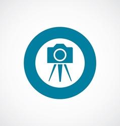 photo camera tripod icon bold blue circle border vector image