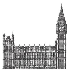 big Ben logo design template London or vector image vector image