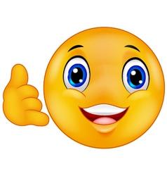 Call me emoticon smiley vector image