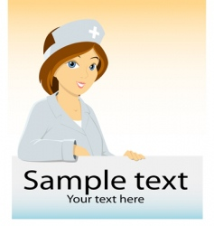 cartoon nurse vector image vector image