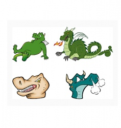 dragons collection vector image vector image