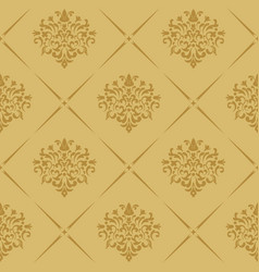 vintage royal wallpaper seamless vector image vector image
