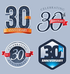 30 Years Anniversary Logo vector image vector image