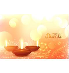 beautiful diwali wallpaper with paisley art vector image
