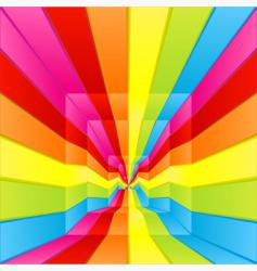 rainbow labyrinth design vector image vector image