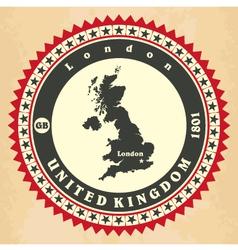Vintage label-sticker cards of United Kingdom vector image vector image