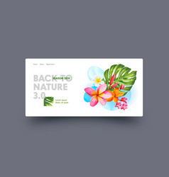 Back to nature landing page design with exotic vector