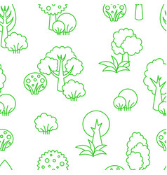 background seamless pattern trees vector image