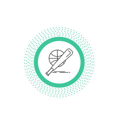 baseball basket ball game fun line icon isolated vector image