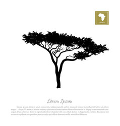 Black silhouette a tree and white background vector