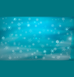 Blue background with snowflakes winter vector