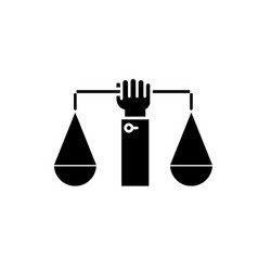 business law balance black icon sign on vector image