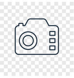 Camera concept linear icon isolated on vector
