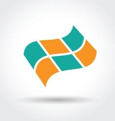 Checkered flag icon vector