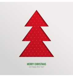 Christmas tree cut out background vector image