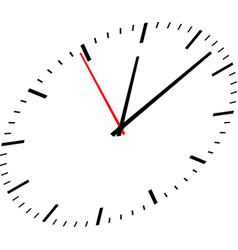 Clock image on white background vector