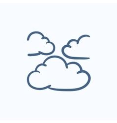 Clouds sketch icon vector image