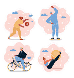 collection sport people vector image