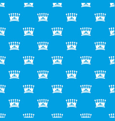 Crown pattern seamless blue vector