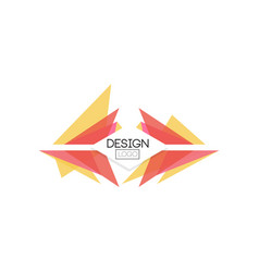 design logo template abctract badge for company vector image