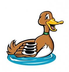 Duck swimming vector