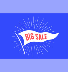 flag big sale old school flag banner with text vector image