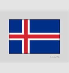 Flag of iceland national ensign aspect ratio 2 to vector