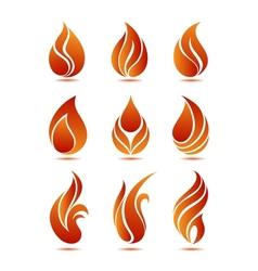 Flame symbols vector image