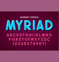 Flat bubble comical font design colorful alphabet vector