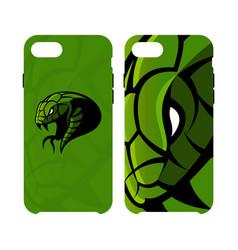 Furious green snake head sport logo concept vector