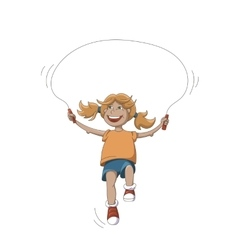 Girl with rope vector