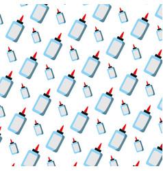 Glue bottle school utensil background vector