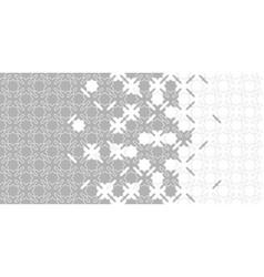 Grey halftone arabesque border arabesque vector
